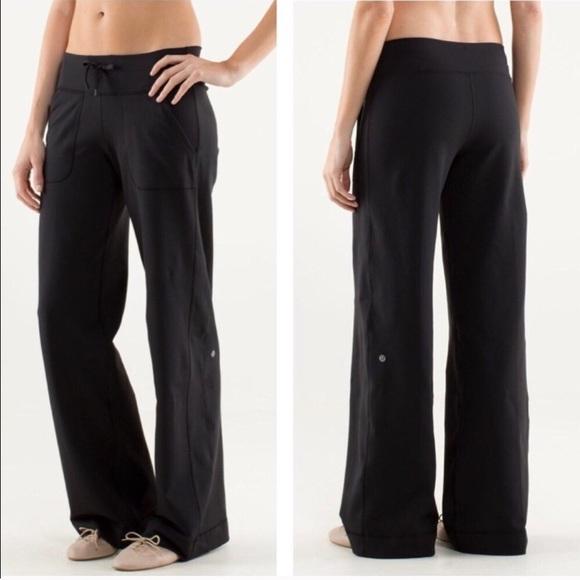 8e294393b5 lululemon athletica Pants   Lululemon Still Grounded Wide Leg Black ...